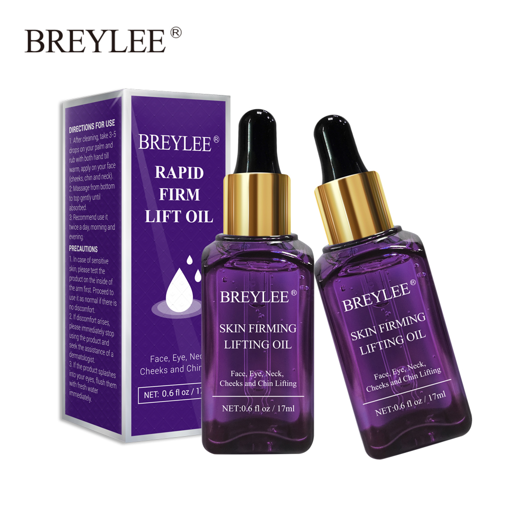 BREYLEE Essential Oil Rapid Firming Lifting Face 2PCS Serum Massage Facial Skin Care Anti-Aging Anti Wrinkles Powerful V Shape