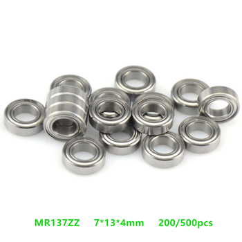 Free shipping 200/500pcs  MR137ZZ  miniature bearing  MR137  MR137-2Z  7*13*4  shielded deep groove ball bearings 7x13x4 mm