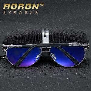 Image 3 - Aoron Gepolariseerde Zonnebril Heren Klassieke Zonnebril UV400 Coating Lens Aluminium Frame Rijden Brillen Voor Mannen