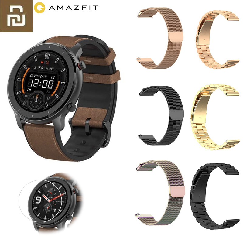 English Version Xiaomi Amazfit GTR 47mm Smart Watch 5ATM Waterproof Smartwatch GPS Music Control With Screen Protector Gift