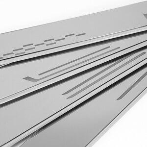 Image 3 - UltrathinอะคริลิคLEDประตูสำหรับMercedes Benz GLC X205 2015 2020 Ledย้ายประตูScuffแผ่นPathway light