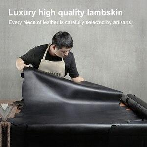 Image 5 - Portfel skórzany mężczyźni krótki 100% kożuch Tide marka garnitur portfel młodzieży prosty projektant pieniądze klipy rabat Hot 2020 nowy