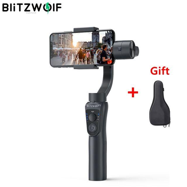 BlitzWolf 3 ציר bluetooth כף יד Gimbal מייצב עבור iPhone Youtube Vlog לxiaomi עבור Huawei טלפון סלולרי חכם חלק
