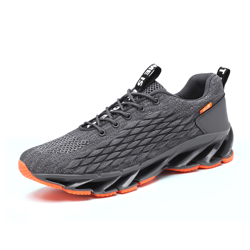 2020 NEW Men Shoes Breathable Fashion Mesh Men Sneakers No-slip Comfortable Mens Casual Shoes Rubber Blade BIg Size 46 Running