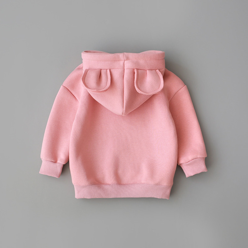New Spring Autumn Baby Boys Girls Clothes Cotton Hooded Sweatshirt
