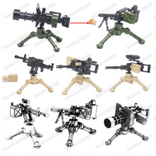 Military Machine Gun Weapons Building Blocks World War 2 Model Assembly Figures Special Forces soldier Child christmas Gift Toys assembly model 1 7 00 bb 63 world war ii missouri battleship model 31613