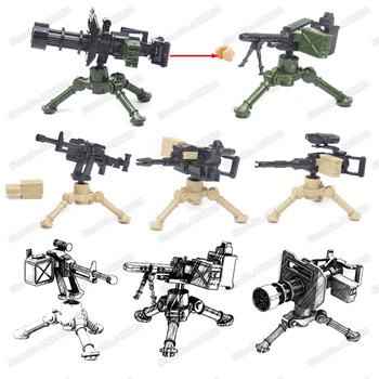 Military Machine Gun Weapons Building Blocks World War 2 Model Assembly Figures Special Forces soldier Child christmas Gift Toys 12pcs set military wapen special armed forces soliders action figures gun toys building blocks compatible legoings for child
