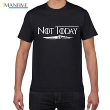 цена на NOT TODAY ARYA STARK GAME OF THRONES T Shirt Faceless Men t shirt House Stark cotton summer streetwear t-shirt men clothes 2019
