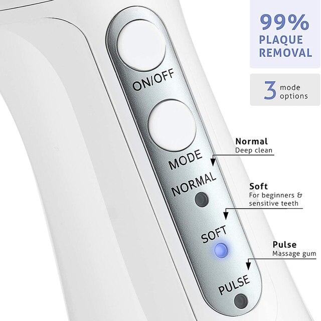 Irrigador Oral recargable por USB, chorro de agua de 300ML, tanque de agua portátil de viaje, limpiador Dental a prueba de agua 5