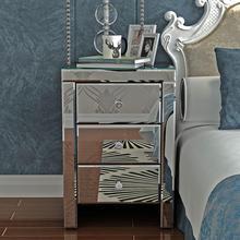 Комод с 3 ящиками, прикроватная тумбочка для спальни, зеркальный прикроватный шкаф/прикроватный столик