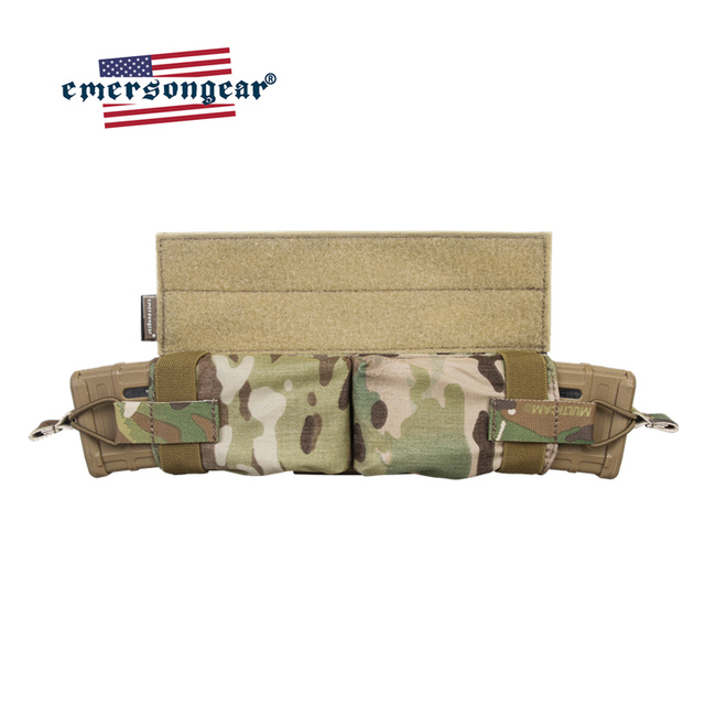 حقيبة إيمرسونجير ماج ذات سحب جانبي مزودة بجيب للمجلة M4 بندقية رموهة التكتيكية مزودة بخطاف وحلقة صيد معدات عسكرية للجيش