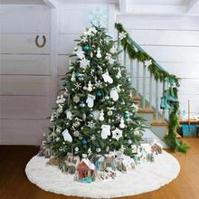 Блестящая юбка с изображением снежной елки; цвет белый, серебристый; Рождественская елка; тонкий нетканый материал; платье-передник; рождественские украшения