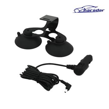 karadar Car radar detector mount with charger 3.5mm Port Car Charger For Car Radar Detector / Car DVR Camera image