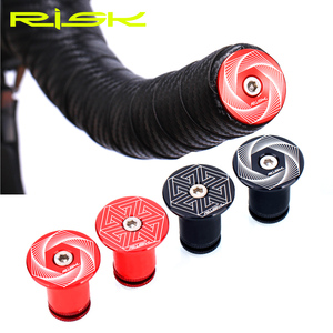 RISK 2 pairs/box Road Mountain Bike Bicycle Expanding Handlebar Plug Bar Ends Adjustable Locking Caps Aluminium Alloy