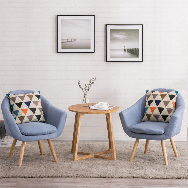Modern Single Lounge Chair Cafe Office Restaurant Furniture Bedroom Study Nordic Minimalist Chair Sofa