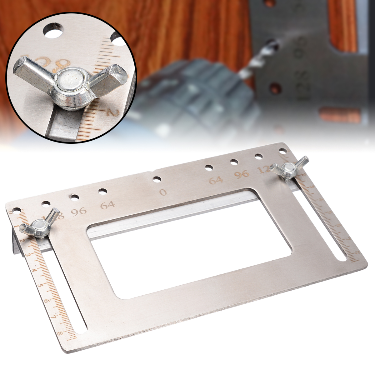 Stainless Steel Punch Locator Woodworking Tool Door Cabinet Knob Handle Hole Punch Locator Drilling Guide Tool