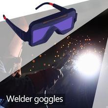 ABS PP Schweißer Brille Faltbare Bildschirm Gas Argon Arc Schweißen Gläser Solar Panel Arbeits Augen Schutz Ausrüstung