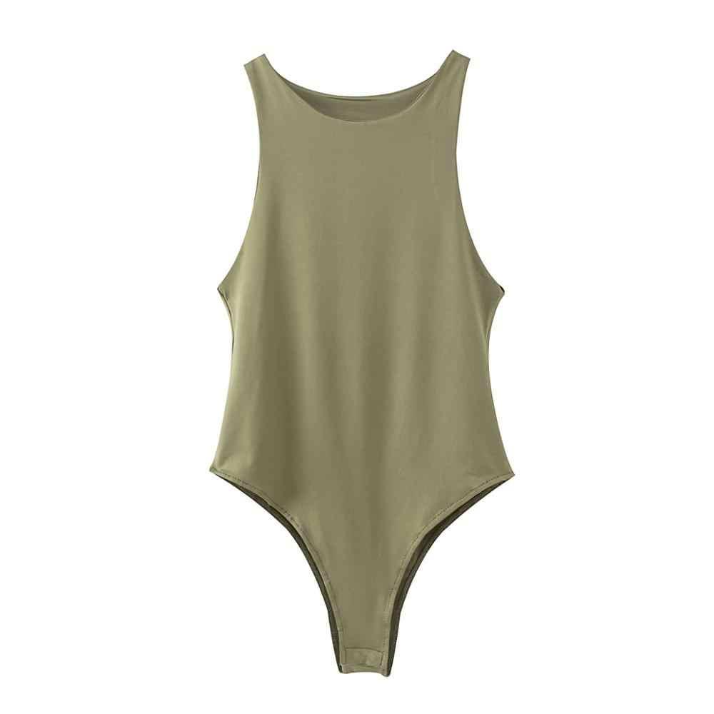 2020 yeni yaz sonbahar Jumper giyisi kadınlar casual seksi ince plaj tulum Romper kız Bodysuit katı marka takım elbise