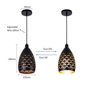 Image 2 - Schilferige Hollow Stijl Ijzer Plafond Droplight Led Ceilight Licht Koord Hanger Lampen Voor Woonkamer Restaurant Stairway Verlichting