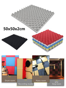 Acoustic Foam Panel Sound Stop Absorption Sponge Studio KTV Soundproof Room living room Wall Decal Home Decorations Dropshipping