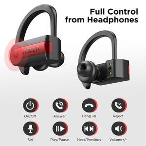 Image 3 - Vislla וו אוזן ספורט אוזניות ריצת אוזניות אלחוטיות Bluetooth 5.0 TWS אוזניות Hifi בס Earbud אוזניות HD Binaural