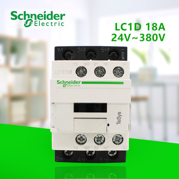 цена на 3P 18A 50/60hz AC Contactor One Open One Closed Coil Voltage 24V 36V 48V 110V 220V 380V LC1D18B7C/CC7C/E7C/F7C/M7C/Q7C 24V-380V