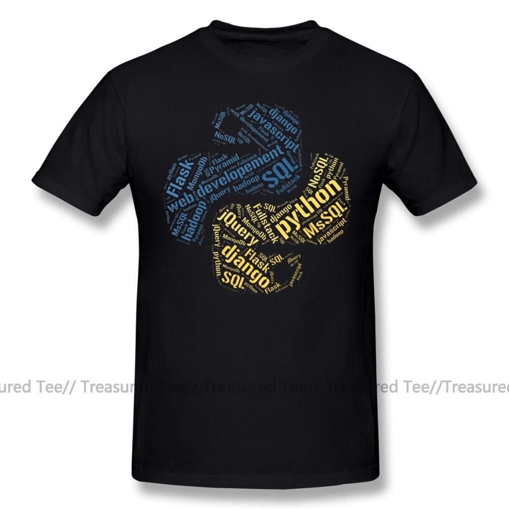 Developer T Shirt Python Programmer T Shirt T-Shirt Basic Short Sleeves Tee Shirt Plus Size  Male Tshirt