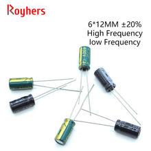 20 piezas 6*12 alta frecuencia de baja ESR condensador electrolítico de aluminio Kit 400V 250V 100V 22UF 2,2 UF 3,3 UF 4,7 UF 470UF surtidos Set