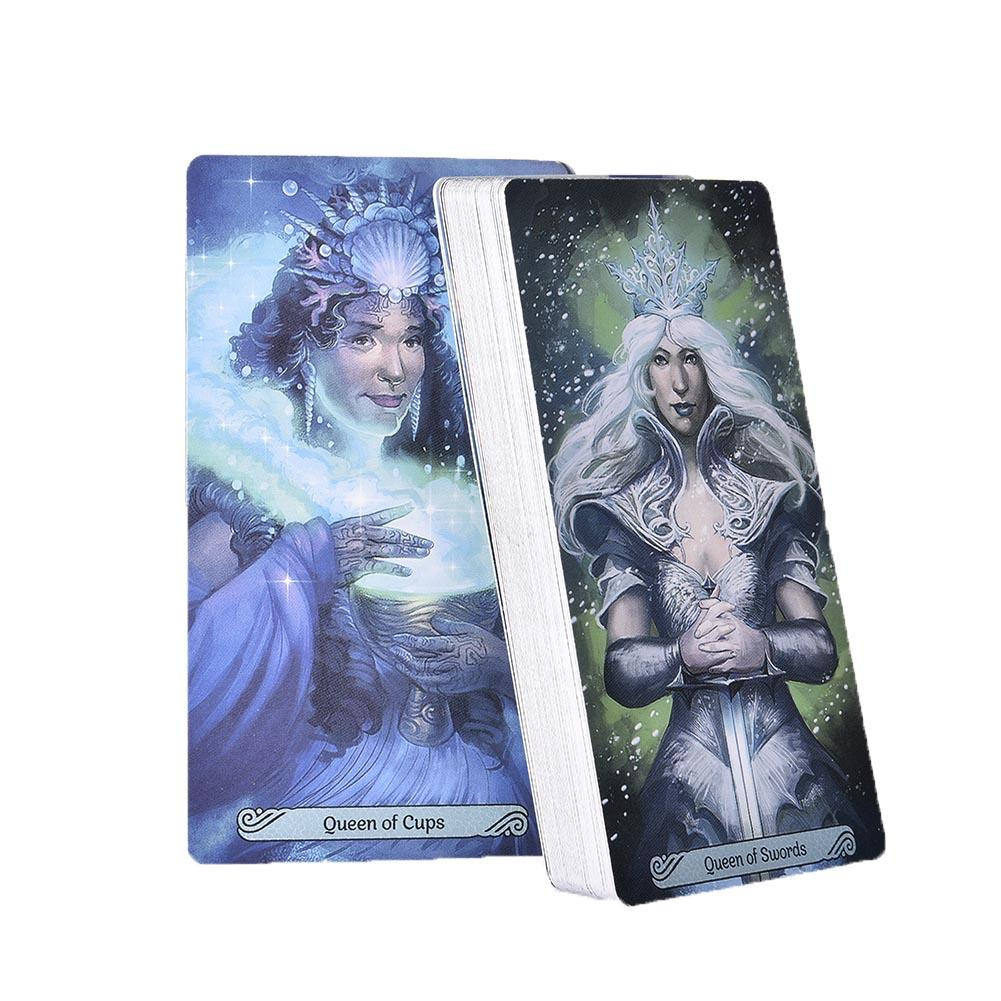 78 Pcs Mermaid Tarot Cards Deck Table Board Games Card For Family Party Playing Card Entertainment Gift