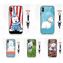 Cute Dog West Highland White Terrier For Apple iPhone 5 5C 5S SE 6 6S 7 8 Plus X XS Max XR(China)