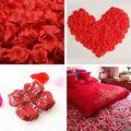 5 сумок 500 шт 5*5 см искусственные красные розовые белые лепестки роз из шелка ткань цветочные лепестки для свадьбы День рождения вечерние укр...