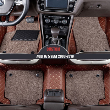 Csutom car floor mats for Audi Q7 5 seats 2006 2007-2014 2015 2016 2017 2018 Custom auto foot Pads automobile carpet covers