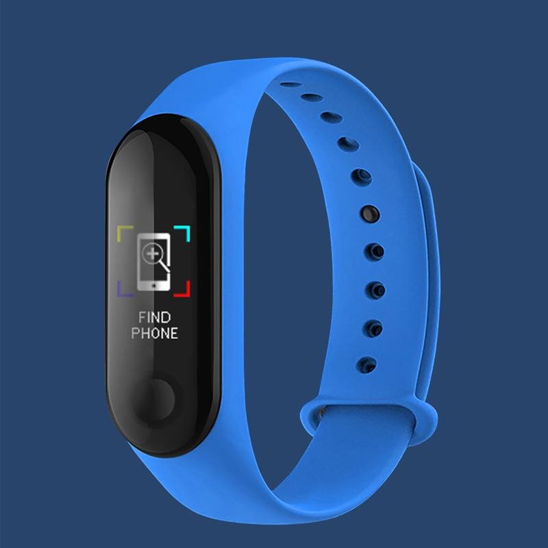 2020 Fitness Smart Bracelet Watch Bands M3 Tracker Sport Pedometer Heart Rate Blood Pressure Smart Bands Sports Watch Wirstband