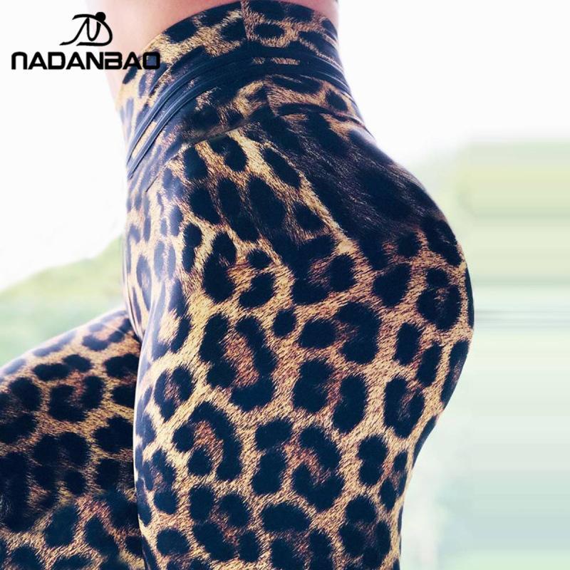 NADANBAO HOT Fashion Leopard Print Women Leggings Sporting Pants Fitness Slim Elastic Sweatpants Workout Push UP Legins