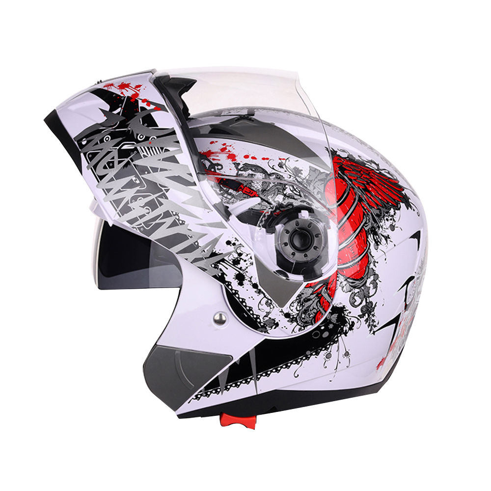 1pcs Double Lens Motocross Helmets Full Face Motorcycle Helmet Off Road Racing Moto Helmets