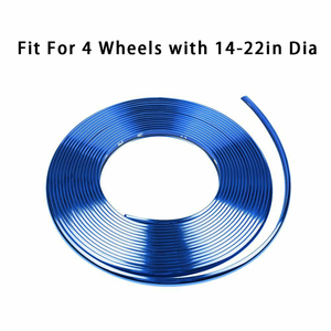 Image 2 - Car Accessories Universal 8M Car Sticker Decal Rim Rubber Strip Protection Color Car Tire Decorative Protector Car Styling TSLM2