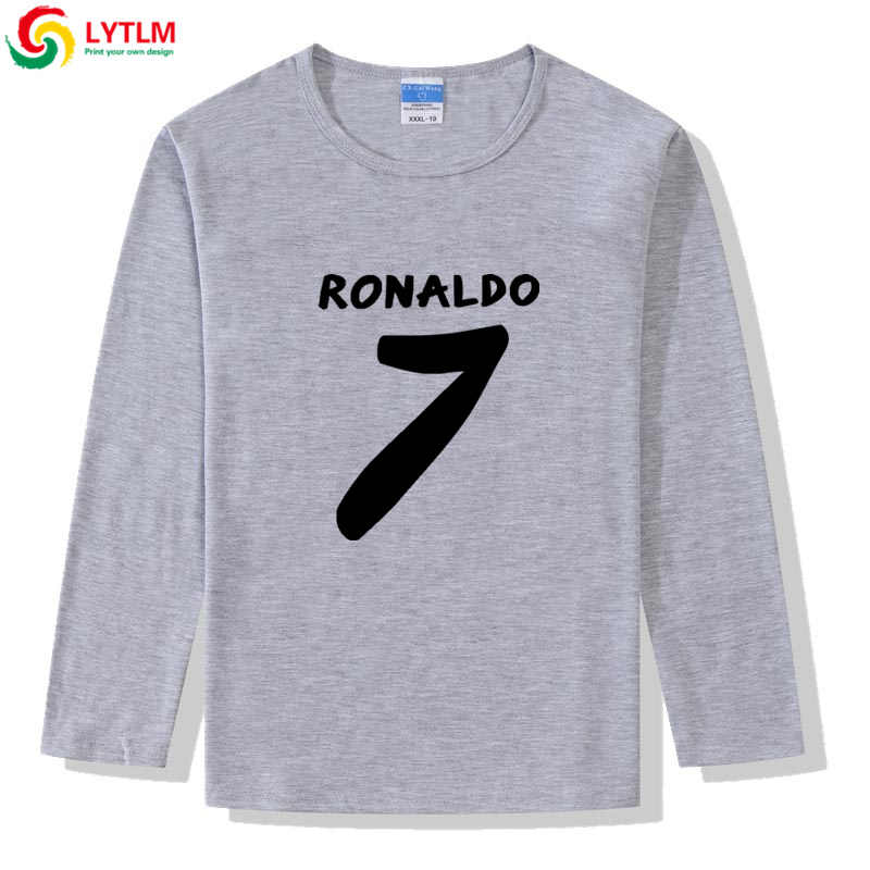 LYTLM Ronaldo 7 Langarm Baby Boy Shirts Jungen T Shirts Baby Kleding Meisje Jungen Tops Herbst 2019 Kinder Kleidung mädchen 8 zu 12