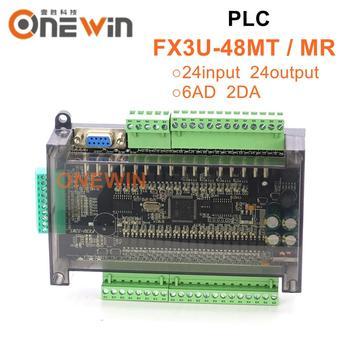 FX3U-48MT FX3U-48MR PLC industrial control board 6AD 2DA  24 Input 24 Output with RTC RS485 communication