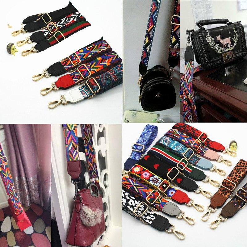 Luxury Diagonal Bag Wide Shoulder Strap Colorful Contrast Color Wild Wide Strap Strap Accessory Shoulder Strap Accessory Obag