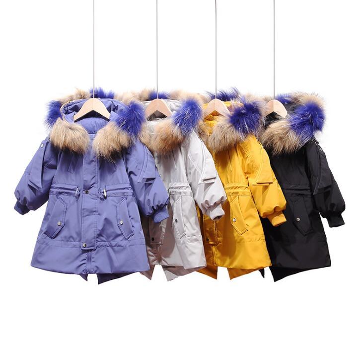 Meninas meninos jaqueta de pele inverno parkas crianças outerwear das crianças do falso casaco de pele de raposa para meninas preto bebê com capuz roupas