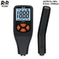 R & d tc200 medidor de espessura de revestimento 0.1 mícrons/0 1500 testador de espessura de filme de pintura de carro medição fe/nfe ferramenta de pintura manual russa Instrumentos de medição de largura     -