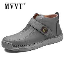 Мужские ботинки из мягкой микрофибры размера плюс кожаные ботильоны