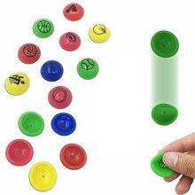 Nova 10 pçs/set brinquedo Engraçado Bouncy balls mixed Bola Metade lado flutuante saltando criança bola de borracha elástica de pinball brinquedos insufláveis