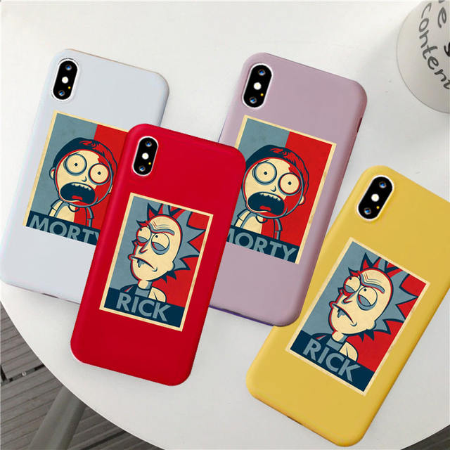 RICK AND MORTY THEMED IPHONE CASE (10 VARIAN)