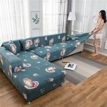 Europe Floral Sofa Cover Elastic Polyester Sectional L Shape Couch Slipcover Home Decorative 1/2/3/4 Seat 4 Season Sofa Towel(China)