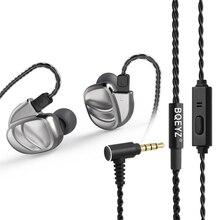 BQEYZ KC2 Wired אוזניות DIY אוזניות 2BA + 2DD היברידי דינמי HIFI משחקי אוזניות בס ספורט אוזניות עם כבל נשלף