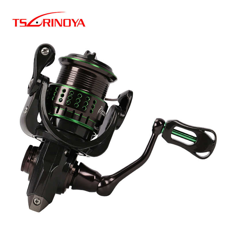 Tsurinoya Vissen Reel Kingfisher Ultralight Forel Reel 800 1000 1500 S 1500 10 + 1BB Lichtgewicht Carbon Spinning Streamen bass Reel