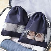 1 stück Wasserdichte Schuhe Tasche für Reise Tragbare Schuh Lagerung Tasche Organisieren Nicht-Woven Tote Kordelzug Dolap Organizer