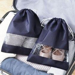 1 piece Waterproof Shoes Bag for Travel Portable Shoe Storage Bag Organize Non-Woven Tote Drawstring Bag Dolap Organizer
