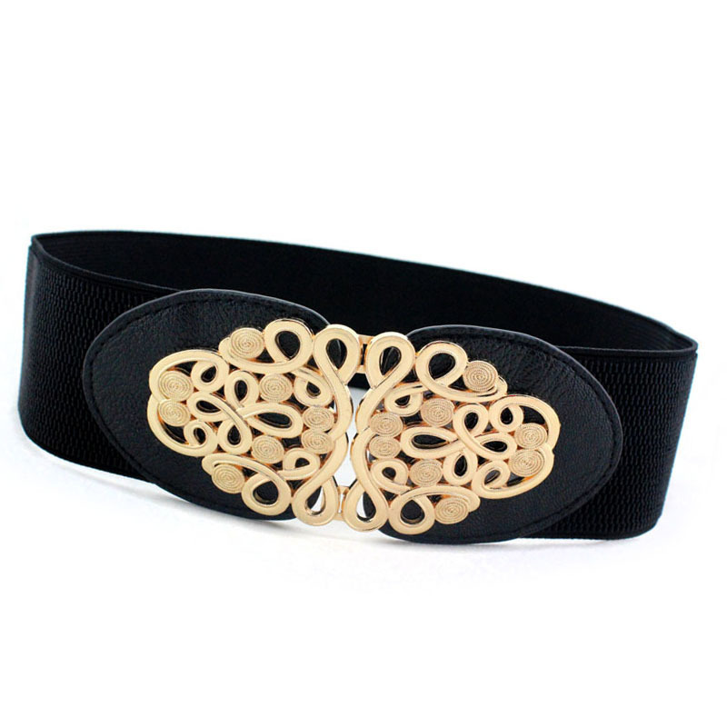New Fashion 4 Types All Black 6cm Width And 65cm Long Waist Belt Dress Adornment For Women Waistband